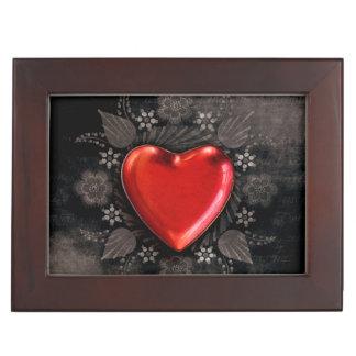 Romantic Floral Heart Valentine Love Keepsake Box