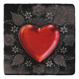 Romantic Floral Heart Valentine Love Trivet