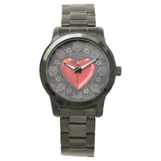 Romantic Floral Heart Valentine Love Watch