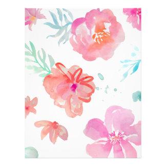 Romantic Floral Pink Watercolor Cool & Elegant for Letterhead