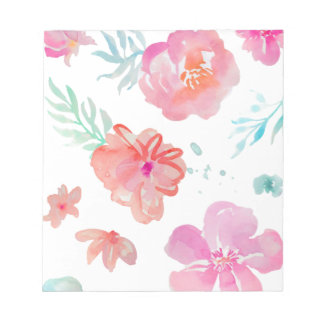 Romantic Floral Pink Watercolor Cool & Elegant for Notepad
