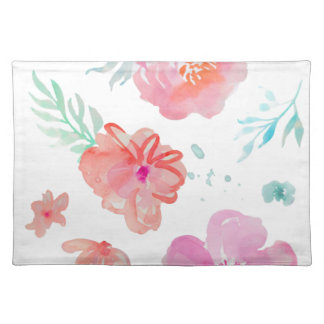Romantic Floral Pink Watercolor Cool & Elegant for Placemat