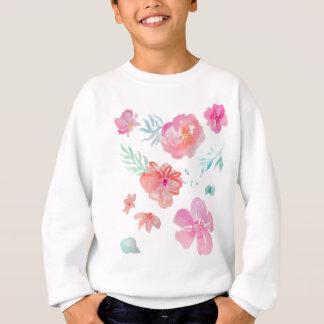 Romantic Floral Pink Watercolor Cool & Elegant Sweatshirt