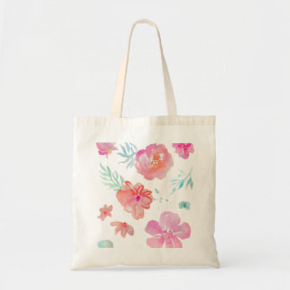Romantic Floral Pink Watercolor Cool & Elegant Tote Bag