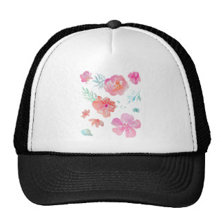 Romantic Floral Pink Watercolor Cool & Elegant Trucker Hat