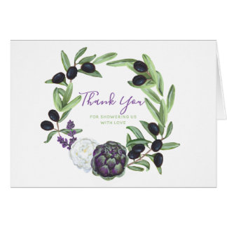Romantic Floral Rustic Baby Shower Gardenia Card