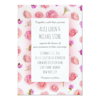 Romantic floral style card
