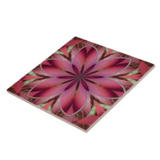 Romantic floral tile