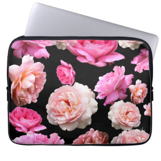 "Romantic Floral Water Resistant 13"" Laptop Sleeve"
