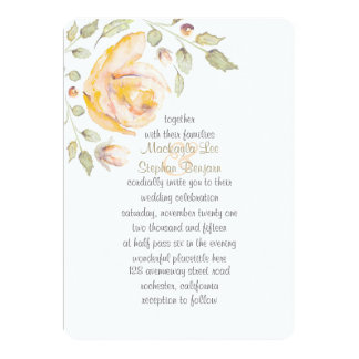 Romantic Floral Watercolor Wedding Initiations Card