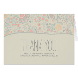 Romantic Floral Wedding Thank You Card