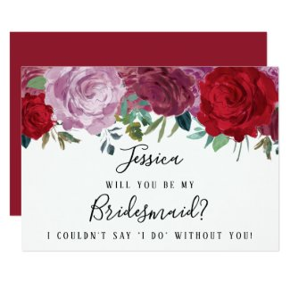 Romantic Floral Will You Be My Bridesmaid? Card