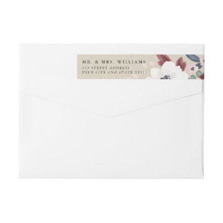 Romantic Florals Invitation Return Address Label