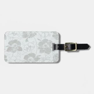 Romantic Flower blue/grey Bag Tag