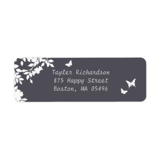 Romantic Flower Border   Return Address Labels