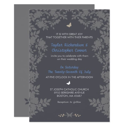 Romantic Flower Border | Wedding Invitations