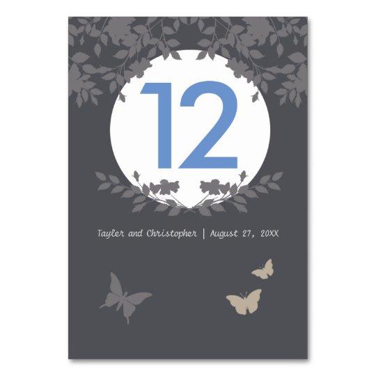 Romantic Flower Border | Wedding Table Card