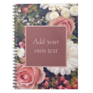 Romantic Flower Bouquet Spiral Note Book