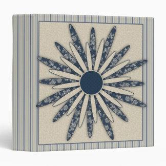 Romantic Flower Design Vinyl Binder