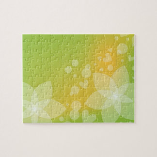 Romantic Flowers and Hearts Jigsaw Puzzle