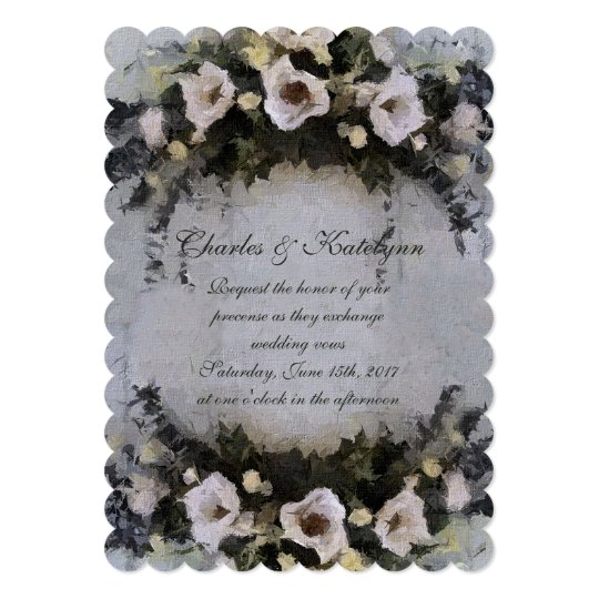 Romantic Flowers | Wedding Invitation |