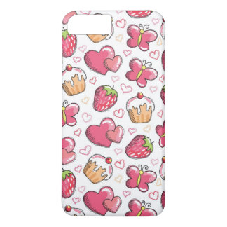 romantic food pattern iPhone 7 plus case