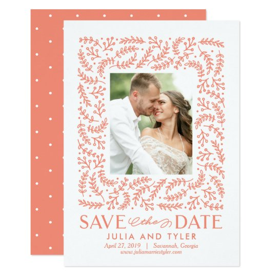Romantic Frame EDITABLE COLOR Save The Date Card