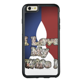 Romantic French Blue National Colour I Love My OtterBox iPhone 6/6s Plus Case