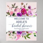 Romantic Garden Bridal Shower Welcome Poster