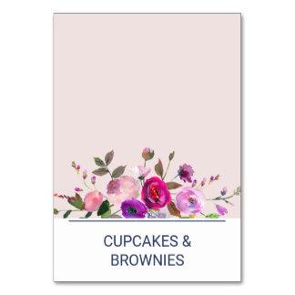 Romantic Garden Buffet Food Labels Card