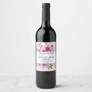 Romantic Garden Cheers to the Future Mrs Wine Label