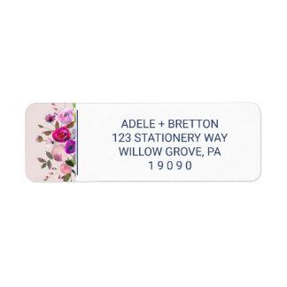 Romantic Garden Wedding Return Address Label