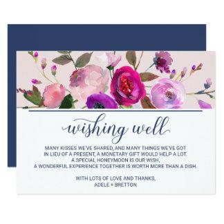 Romantic Garden Wedding Wishing Well Card