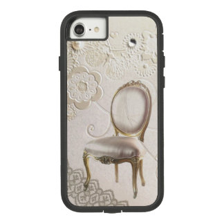 romantic girly chandelier Rococo chair paris Case-Mate Tough Extreme iPhone 8/7 Case