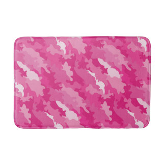 Romantic girly style camouflage pink pattern bathroom mat