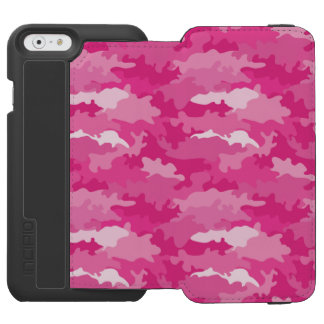 Romantic girly style camouflage pink pattern incipio watson™ iPhone 6 wallet case