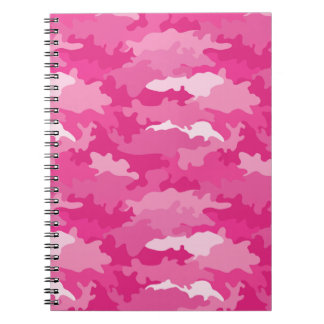 Romantic girly style camouflage pink pattern note books