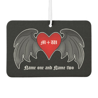 Romantic goth heart | Valentines+day Air Freshener