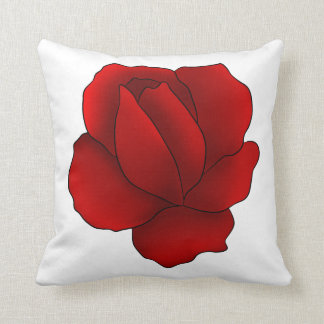 Romantic gothic red rose throw pillow