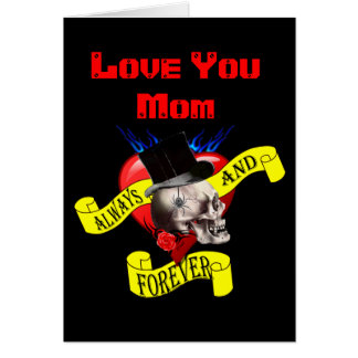 Romantic gothic tattoo mothers day card