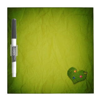 Romantic Grass Heart - Dry Erase Board