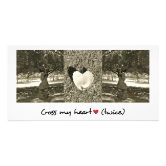 Romantic greeting card photo card template