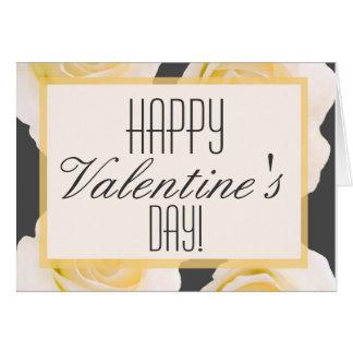 Romantic Grey & Ivory Rose Customized Cards