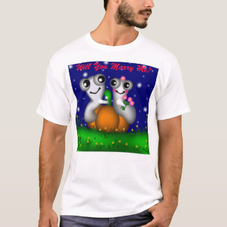 Romantic Halloween, Will You Marry Me? T-Shirt