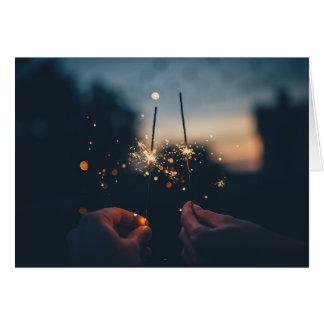 Romantic Happy New Years Card (Gloss)
