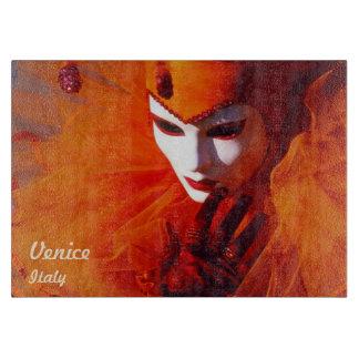 Romantic Harlequin With Orange Carnival Costume Boards