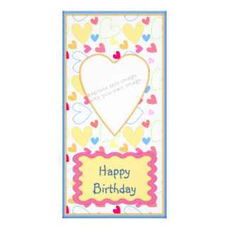 Romantic heart design custom photo card