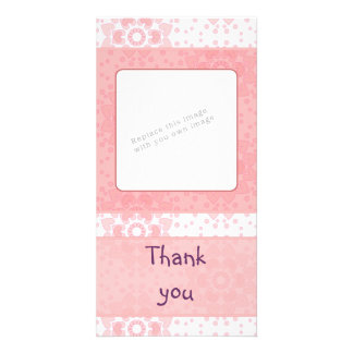 Romantic heart design customized photo card