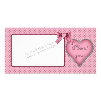 Romantic heart design / Thank you Card