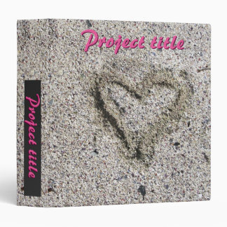 Romantic Heart in Sand Photo Vinyl Binders